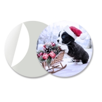 Quality Round 3D Lenticular Stickers For Keyrings PET Flip Changing Sticker for sale