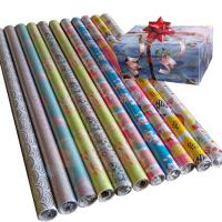 China 30inch x 120inch gift wrapping paper 80gsm coated paper custom wrapping paper on sale
