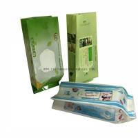 China Side Gusset Baby Wet Wipes Custom Printed Coffee Bags Durable With Mid Seal on sale