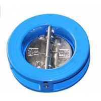 Quality DN80 Pn16 Non Reture Industrial Check Valves Dual Plate Spring Tilting Disc for sale
