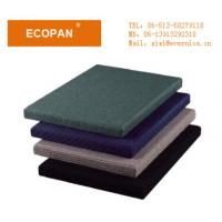 China Eco Friendly Thermal Fiberglass Insulation Fabric Wrapped Acoustic Panels 600×600 mm on sale