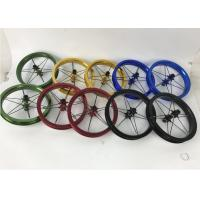 Quality 2020 12inch Bearing Type  Single Wall Kids Balance Bike Wheelset Child Bicycle Wheels 75 84 90 95 100 115mm Golden Color for sale