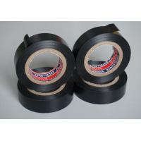 Quality Black PVC Electrical Adhesive Tape , 18mm Width Wiring Loom Tape for sale