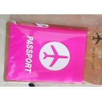 Quality Waterproof Soft PVC Passport Holder With Cartoon / Sport / Company Logos for sale