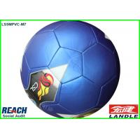 China Standard Colorful Weight Soccer Balls / Blue Regulation Size Football on sale