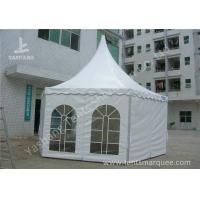 Quality Hexagonal White PVC Fabric Gazebo Canopy Tents Aluminum Profile for sale