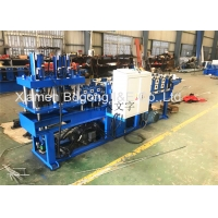 Quality Shrinkable Fence Strip Roll Forming Machine With Punching Hole Section for sale