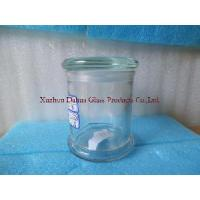 Quality 330ml Transparent Glass Candle Holder for sale