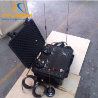 Quality Four Bands 60W Luggage Portable Car RF Jammer Blocker Shield UHF GSM DCS 3G Mobile Signal for sale