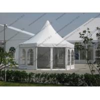 Quality White PVC Pagoda Party Tent , Luxury Outdoor Canopy Tent White With Glass Sidewalls for sale