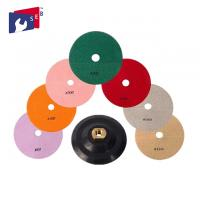 Quality 4 inch Diamond Resin Wet Polishing Pads with 8 Pieces for Granite Marble for sale
