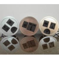 Quality Round Conference Table Socket / Zinc Alloy Desktop Power Sockets for sale