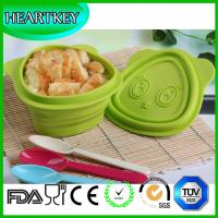 Quality Manufacturer Selling New Design Cat Silicone Collapsible Travel Foldable Bowl With Lid for sale