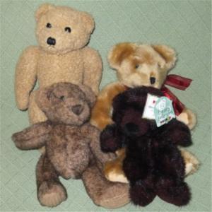 China Small Stuffed Teddy Bears Schmidt Cannon Aurora Flowers Inc Animal Toy Lot on sale