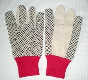 Quality 8 OZ 70g PVC Dots Cotton Glove for sale