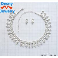 Best OEM / ODM Bib statement necklace Crystal Necklace and Earring Set wholesale