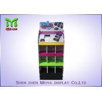 Best Glossy lamination Remote control car 9 pocket Slide fastener cardboard floor display with LCD player wholesale