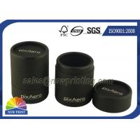 Best Personalized 3 Pieces Black Rigid Paper Cans Packaging Fancy Cylinder Gift Boxes wholesale