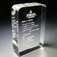 Buy cheap Fashion 3d laser crystal building from wholesalers