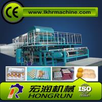 China 4000pcs/h 8 sides rotary type automatic egg tray machine with 6 layer drying line on sale