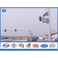 China 6m Crossroad traffic light post Joint with insert mode , outdoor light pole longspan life on sale