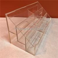 Best Retail Store 3 Step Counter Display Racks Clear Acrylic Display Holder For Brochure wholesale