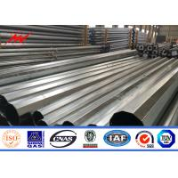 Best 12 Side 11.8m Electrical Galvanised Steel Pipe Steel Tube For Transmission Line wholesale