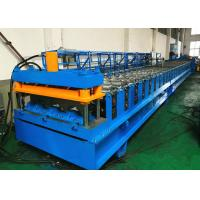 China Electrically Driven Steel Deck Roll Forming Machine With Siemens PLC Control System on sale