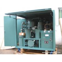 Quality 2 Stage Vacuum Transformer Oil Purification for sale