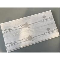Quality Flat 25cm Waterproof Wall Panels Wooden Pattern With Double Silver Lines for sale