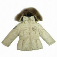 China Children's Padded Jacket for baby's and Girls, Made of 100% Polyester Lining on sale