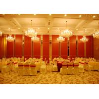 Quality Red Sliding Folding Partitions Movable Walls For Exhibition Place for sale