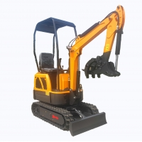 Quality 1.2 Ton Garden Excavator Ground Digger hydraulic mini crawler excavator For sale for sale