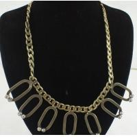 Best Copper Alloy Shamballa Jewelry Antique Bronze Necklace with Plastic Beads Main Stone wholesale