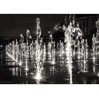 Quality Beautiful Dry Floor Floor Water Feature , Dancing Water Fountain Art 380V for sale