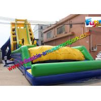 China 33.5 x 13.7 Inflatable Water Slide Drop Kick , Air Bag Outdoor Wet Slide on sale