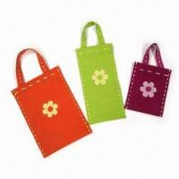 Quality Handmade Carrier Bag with Cut Shaped Felt Pasted on Surface, Available in Various Patterns for sale