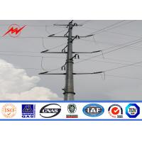 Buy cheap 69kv Galvanized Steel Pole For Electrical Distribution Line Project from wholesalers