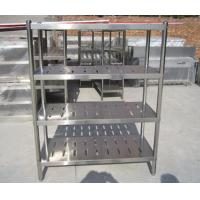 China Customized Commercial Restarant / Supermarket Stainless Steel Display Racks Light duty structure on sale
