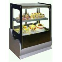 China Cake Refrigerator Display Showcase Copper Colored For Cafe And Restaurant on sale