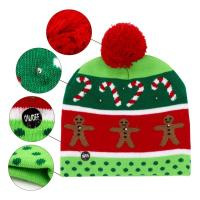 Quality Girls Promotional Products Caps / Knitted Beanie Christmas Hats LED Lighted Flashing for sale