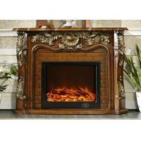 China Free Standing Classic Flame Electric Fireplace , RV Antique Fireplace Surround on sale