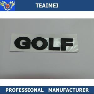 Best 130 X 25 Mm Black Golf Badge Custom Custom Car Emblems Letters ABS Plastic Car Emblem wholesale