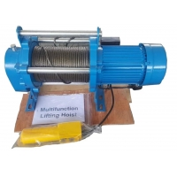 China 500kg 1t 2t Small Construction Electric Wire Rope Winch for sale
