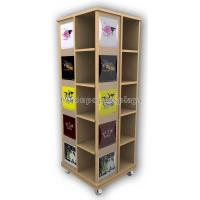 Best Wooden Floor Rotating Clothing Shop Display Cabinets For Garment Retail Stores wholesale