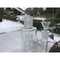 Quality Detachable Mouth  Glass Bong Filter 6 Inches  , Clear 14mm Femle Glass Smoking Pipe for sale