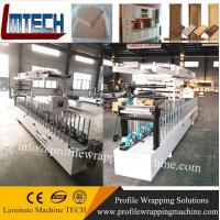 wpc door frame extrusion line WPC Profiles wrapping machine