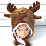 Quality Custom Cartoon Elk Plush Hat for sale