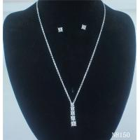 Best Custom American Standard Fashion Navel Jewelry Crystal Necklace and Earring Set for Gift wholesale