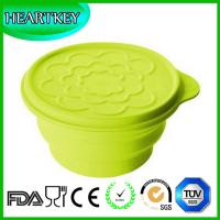 Quality Wholesale Foldable Lunch Box Silicone Travel Collapsible Bowl With Lid for sale